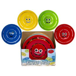 24 of Flying Disc With Smiley Face 11.5in 4ast Colors