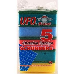 96 of 5 PIECE THICK SPONGE SCRUBBER