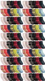 120 of Yacht & Smith Womens Soft Fuzzy Gripper Crew Socks, Assorted Striped Size 9-11