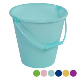 36 of Bucket With Handle 6ast Solid Pastel Colors