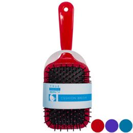 24 of Hair Brush Assorted Paddle Cushioned
