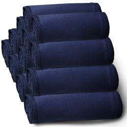 12 of Yacht & Smith 50x60 Fleece Blanket, Soft Warm Compact Travel Blanket, NAVY BLUE