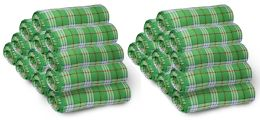24 of Yacht & Smith 50x60 Fleece Blanket, Soft Warm Compact Travel Blanket, GREEN PLAID