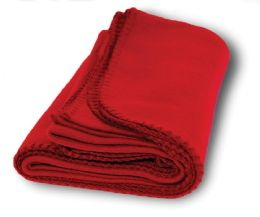 12 of Yacht & Smith 60x90 Fleece Blanket, Soft Warm Compact Travel Blanket, RED