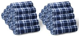 60 of Yacht & Smith 50x60 Fleece Blanket, Soft Warm Compact Travel Blanket, NAVY PLAID