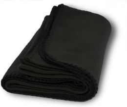 12 of Yacht & Smith 60x90 Fleece Blanket, Soft Warm Compact Travel Blanket, BLACK
