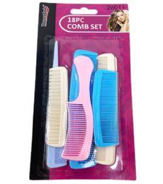 96 of 18 Piece Assorted Comb Set