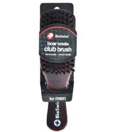 48 of Boar Bristle Wood Club Brush Bioswiss