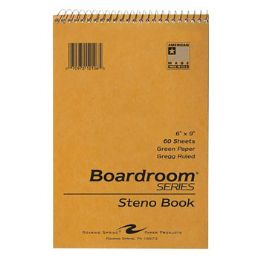 72 of Steno Book 60pg Green Paper 6x9 Brown Kraft Cover