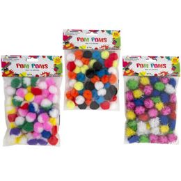 36 of Craft PoM-Poms 3ast Styles 60ct 1in Marble/solid/tinsel Craftpbh