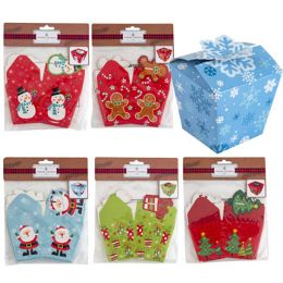 36 of Treat Box 6pk Christmas 3x3in Paper 6ast Designs/xmas Pbh