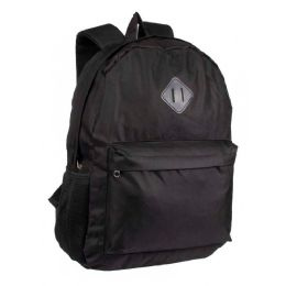 "24 of 17"" Backpacks With Side Mesh Water Bottle Pockets In Black"