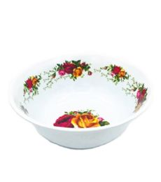 60 of 8 Inch Bowl Melamine Yellow Red Roses