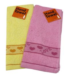 144 of Kitchen Towel Embroidered Love Assorted