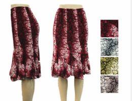 48 of Women's Flowy Printed Ruffle Skirt