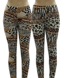 48 of Women High Waist Leggings Leopard Print