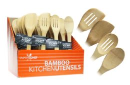 96 of BAMBOO KITCHEN UTENSIL (ASSORTED)