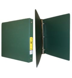 72 of Bazic 11 Inch Green 3 Inch Binder