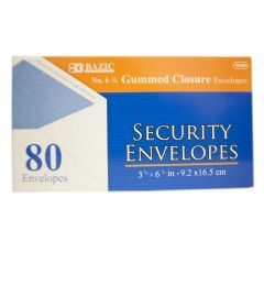 72 of Bazic 80 Piece Security Envelope Gum