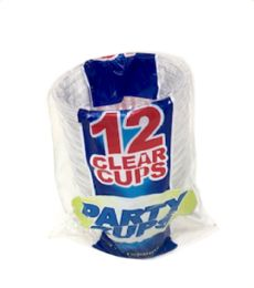 96 of 12 Piece 9 oz Clear Party Cups