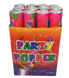 72 of 12 In 1 Party Popper 30 CM Display