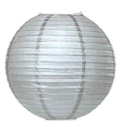 96 of 8 Inch Paper Lantern In Silver