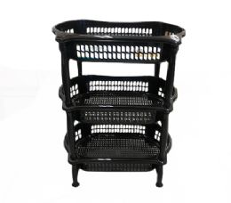 6 of 3 Level Oval Vegetable Rack In Black