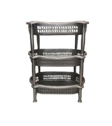 6 of 3 Level Oval Vegetable Rack In Gray