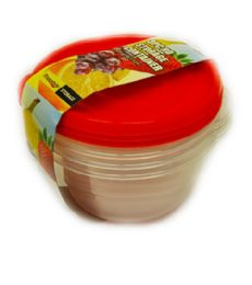 48 of 3 Piece Round Storage Container
