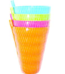 96 of 4 Piece Cup With Straw 800ML