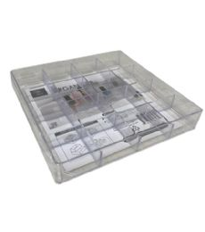 72 of Plastic Clear Organizer Square 16 Section