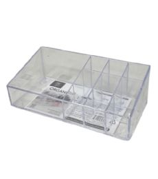 72 of Plastic Clear Organizer Rectangle 10 Section