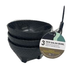 72 of 3 Piece Salsa Bowl In Black