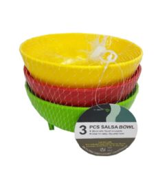 72 of 3 Piece Salsa Bowl In Assorted Color