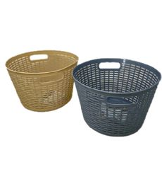 72 of Plastic Basket Round Assorted Color