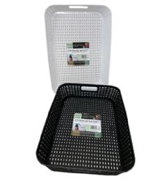 72 of Plastic Basket Rectangle Shallow