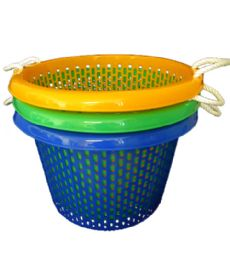 10 of 21x14 Inch Round Basket With Rope Handle