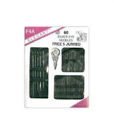 120 of Needle 60 Count Assorted With 5 Piece Jumbo