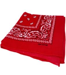 300 of Paisley Bandana In Red