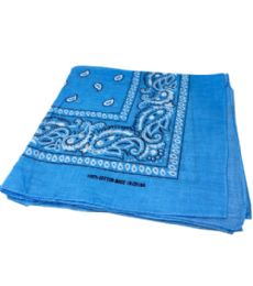 300 of Paisley Bandana In Light Blue Color