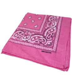 300 of Paisley Bandana In Pink Color