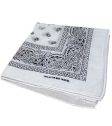 300 of Paisley Bandana In White Color