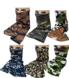 60 of Sun Half Face Mask Camo Assorted Colors