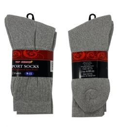 120 of 2 Pair Sock Gray Size 9-11