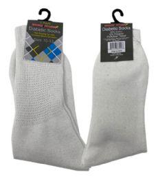 120 of 1 Pair Diabetic Sock In White Size 10-13
