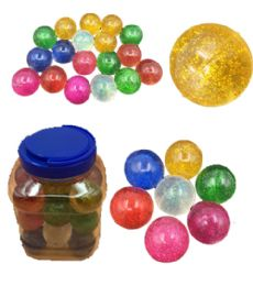 12 of 24 Piece Glitter Bouncing Ball