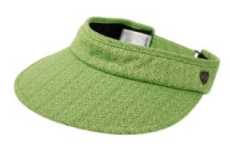 12 of Cotton Solid Color Visor With Back Bow in Lime Green