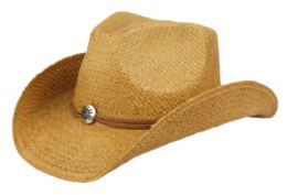 12 of Fashion Cowboy Hats w/ Trim Band and Studs