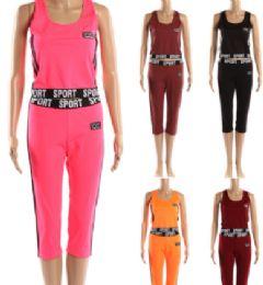 72 of Womens 2 Piece Sport Active Wear