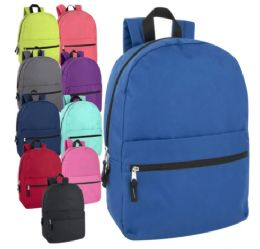 24 of 17 Inch Solid Backpack